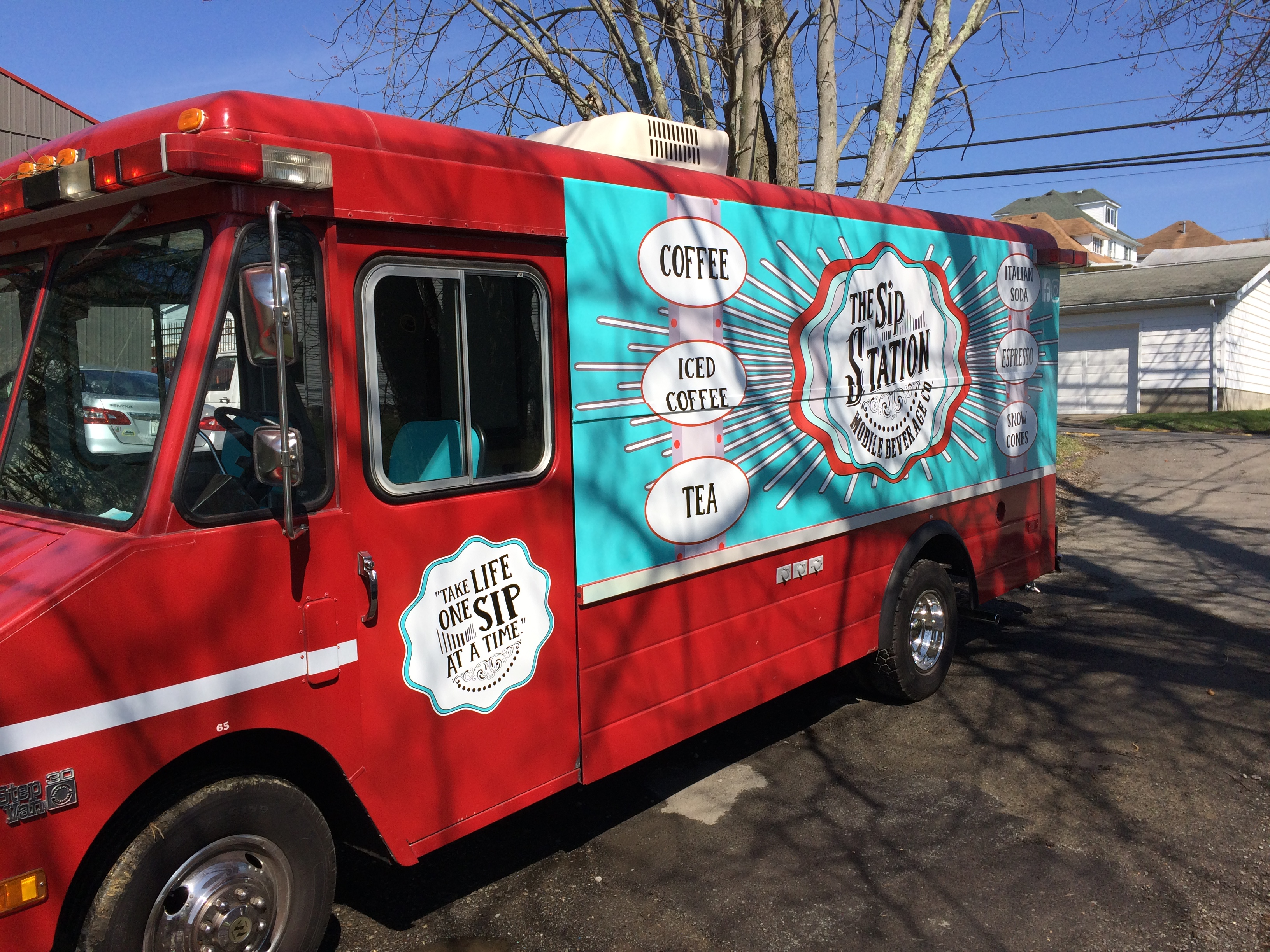 food truck lettering & wrap